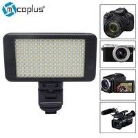 Mcoplus Mały Rozmiar 150 LED Studio Wideo Światła Ściemniania Wysokiej Panel zasilania dla Canon Nikon SONY Olympus Pentax LUSTRZANEK Cyfrowych kamery