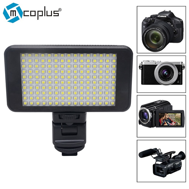 Mcoplus Small Size 150 LED Studio Video Light Dimmable High Power Panel for Canon Nikon Pentax SONY Olympus Digital SLR Cameras лыжный комплект stc 75 step без палок