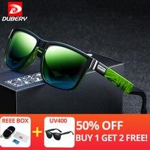 f4cea3a7b Dubery clássico condução praça polarizada óculos de sol dos homens lente  azul verde óculos de sol polaroid óculos de lente mascu.