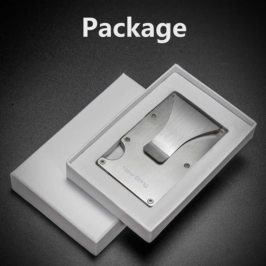 NewBring スリム金属クレジットカードホルダーと Rfid アンチチーフ旅行ミニ財布の男 rfid 財布