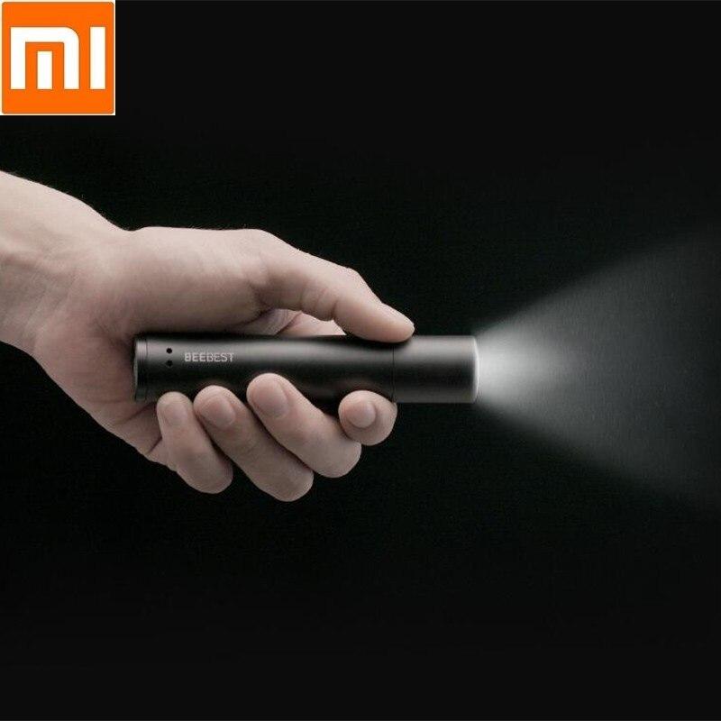 Xiaomi Portable lampe de poche éblouissement de voiture rechargeable étanche extérieurs pour la maison LED lampe de poche Polaire abeille éblouissement zoom lampe de poche