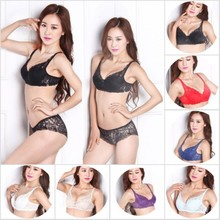 women push up bra set girl floral lace underwear set rims do