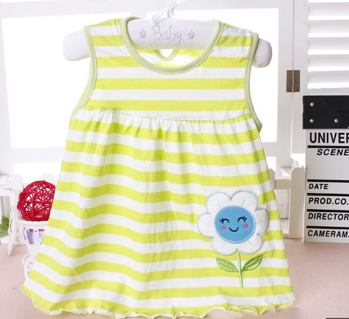 2017-other-new-baby-cute-girl-wearing-a-sleeveless-dress-to-wear-casual-clothing-cotton-100-conventional-micro-Princess-0-24-mo-3