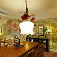 Rustic Modern LED Pendant Light Kit Chain Fixtures Ceiling Hanging Metal Rose Bronze Pendant Lamp For