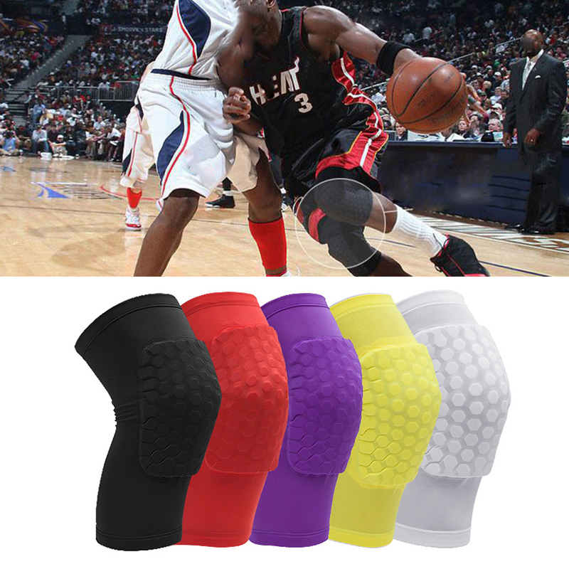 New 1pc Honeycomb Crashproof Antislip Basketball Leg Knee Guard Pad Long Sleeve Protector Gear Sports Injury Protect Support