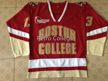 78eeb2a2c Vintage BOSTON COLLEGE RED  13 JOHNNY GAUDREAU Hockey Jersey Embroidery Stitched  Customize any number and
