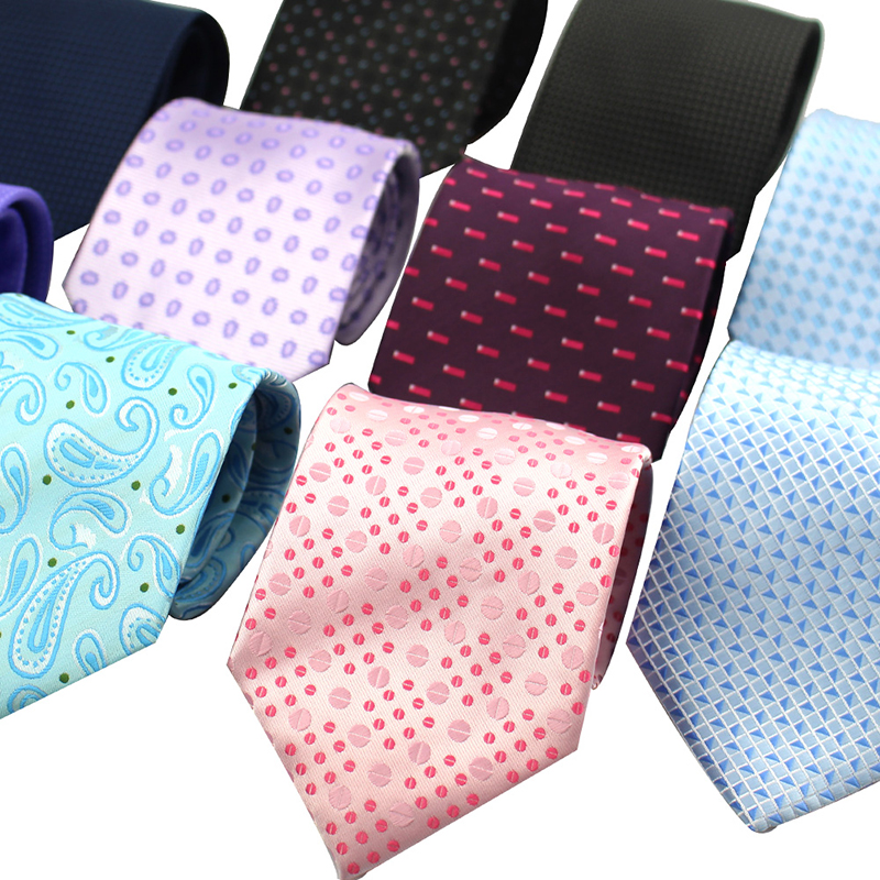 Business Tie for Men 8cm Width Classic Neckties Fashion Wedding Mens Ties For Gift Suits Gravatas Microfiber Neck ties