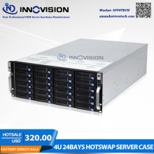 Super huge storage 24 bays 4u hotswap rack NVR NAS server chassis S46524