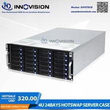 Супер огромное вместилище 24 отсеков 4u hotswap стойки NVR NAS серверного шасси S46524