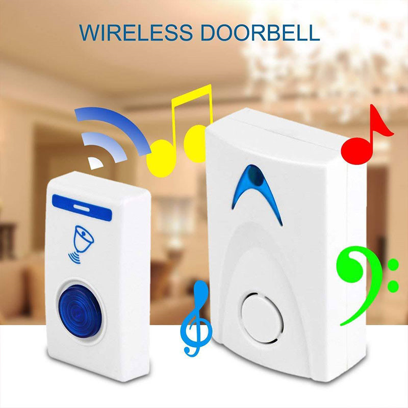 1PC LED Wireless Chime Door Bell Doorbell & Wireles Remote control 32 Tune Songs White Home Security Use Smart Door Bell1PC LED Wireless Chime Door Bell Doorbell & Wireles Remote control 32 Tune Songs White Home Security Use Smart Door Bell
