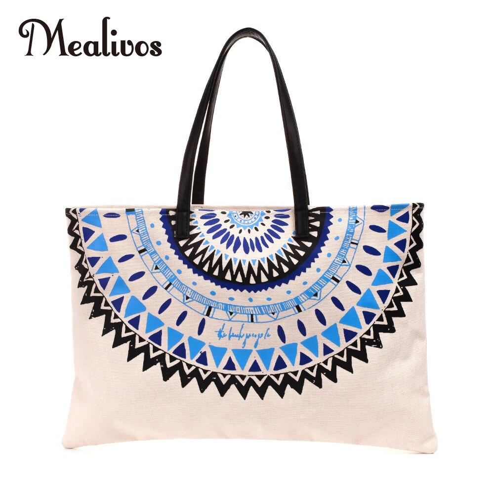 3b07fabd21 Mealivos ινδική Mandala άγκυρα Γυναίκες καμβά αδιάβροχο ώμου τσάντα ...