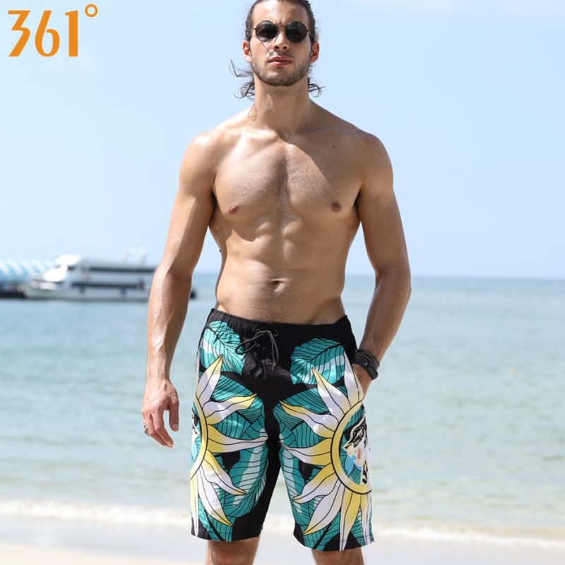 361 Men Plus Size Swim   Shorts   2018 Quick Dry Surf Beach   Shorts   with Pocket Male Swimming Trunks Boys   Board     Shorts   Men Swimwear