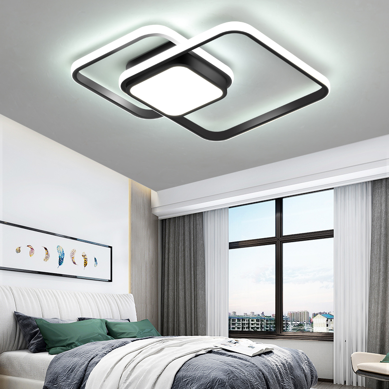 LICAN Bedroom Living room Ceiling Lights Modern LED lampe plafond avize Modern LED Ceiling Lights lamp with remote control-in Ceiling Lights from Lights & Lighting