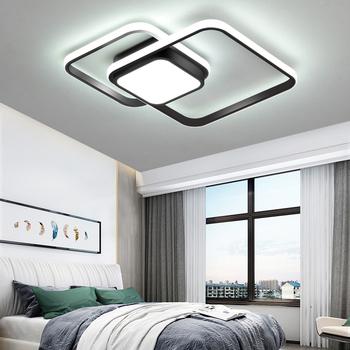 LICAN sypialnia lampy sufitowe do salonu nowoczesne lampy LED plafond avize nowoczesne lampy sufitowe LED z pilotem tanie i dobre opinie 20 Metrów 15-30square Jadalnia Łóżko pokój Foyer Badania ROHS 90-260 v Klin Aluminium Ironware + Akryl Pilot zdalnego sterowania