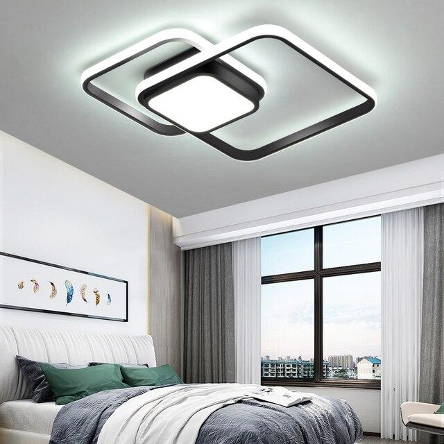 LICAN yatak odası oturma odası tavan ışıkları lampe plafond avize Modern LED tavan ışıkları uzaktan kumanda ile lamba