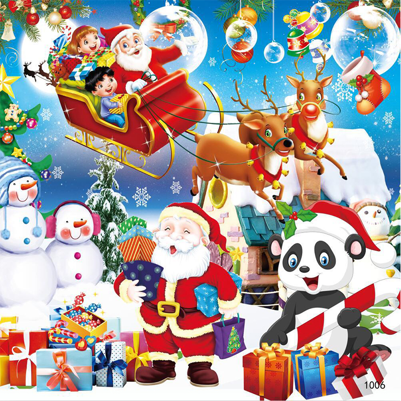 Merry Christmas 100 Piececs Children Jigsaw Puzzle Board Wooden Puzzle Game Education Learning Toys For Kids Gift Santa Claus