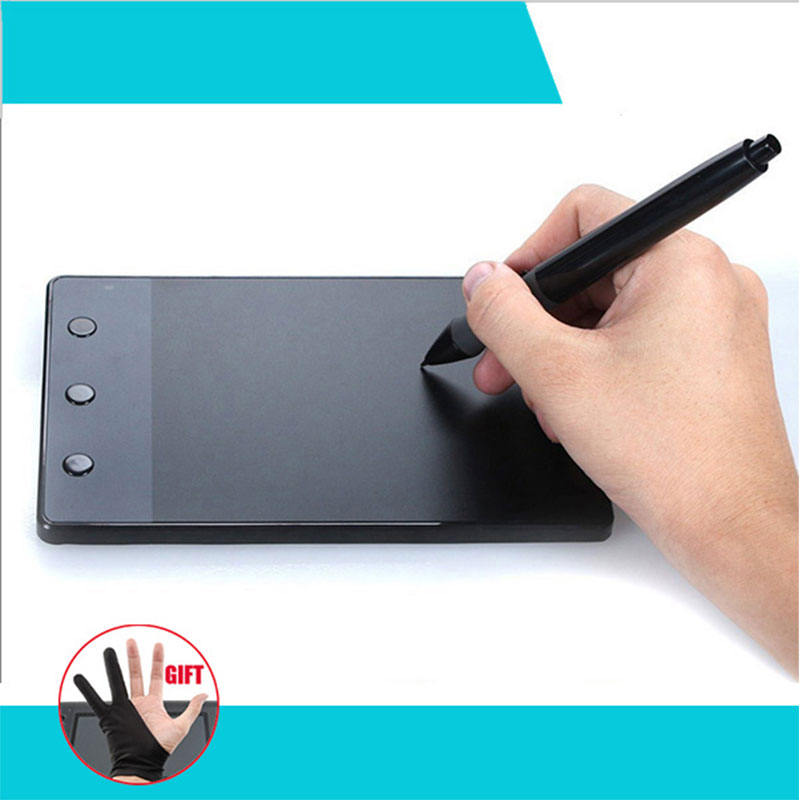 HUION H420 4 x 2.23 USB Art Design Drawing Tablet for Drawing Graphic Tablet OSU USB Digital Pen For PC Computer huion p608n usb 26 function keys graphic tablet black