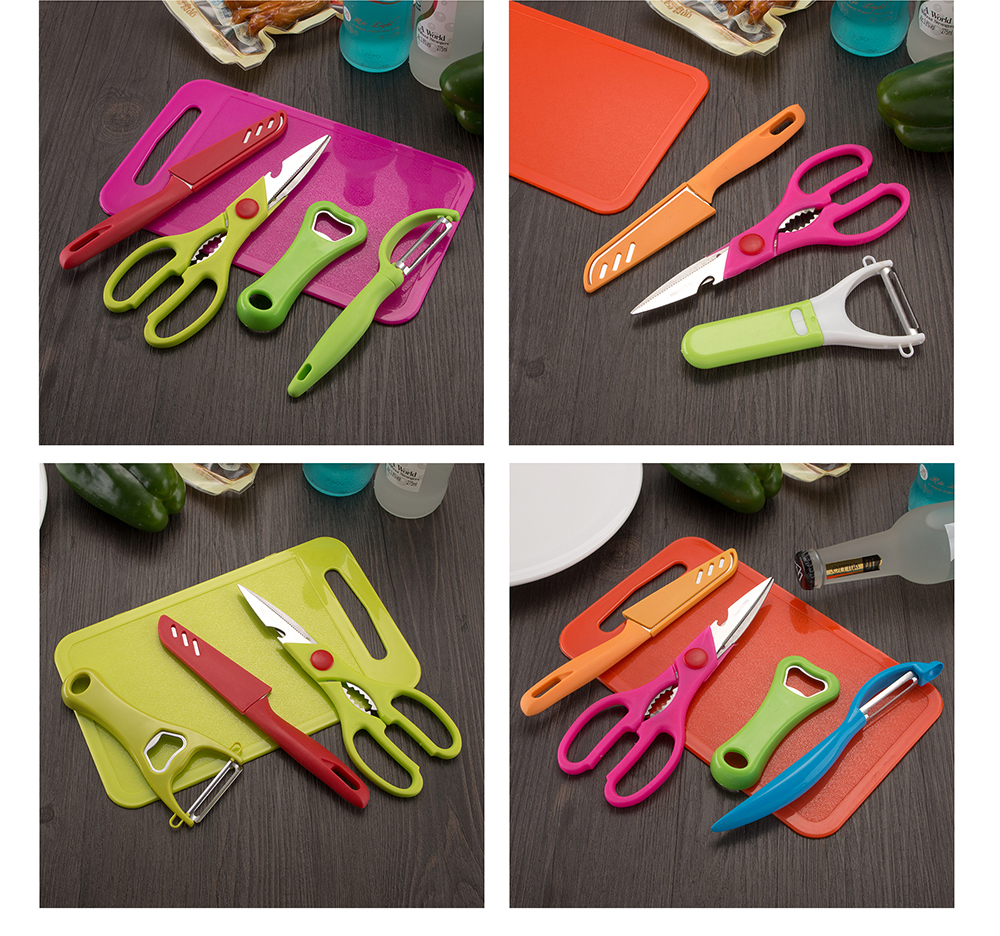 5PCS Vegetable Fruit Peeler Bottle Opener Fruit knife Set Carrot Potato Peeler Melon turnip Slicer Cutter Kitchen Cooking Tools 3