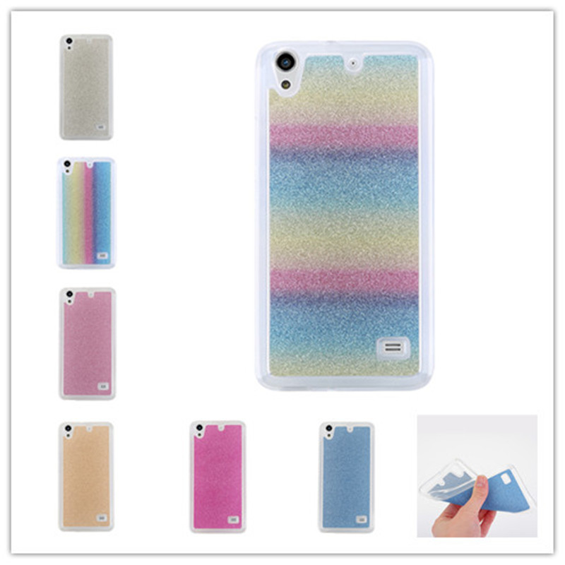 506cfd997c4 Bling Glitter case carcasas para For Huawei Ascend G620S Cover Soft TPU  Frosted Matte shimmering powder