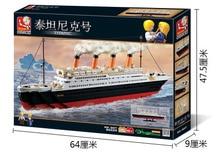 1021 pcs Building Block Set Compatível com lego cidade do navio Titanic 3D Construção Tijolo Brinquedos Hobbies Educacional para Crianças