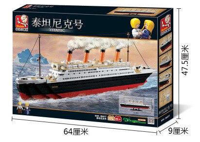 1021pcs Building Block Set Compatible with lego city ship Titanic 3D Construction Brick Educational Hobbies Toys for Kids