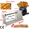 Free Shipping Commercial Manual Spiral Potato Chips Curly Fries Twist Hot Dog Cutter Slicer