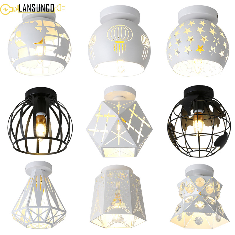 Modern Ceiling Lights Vintage Plafondlamp Led Ceiling Lamp Cage Plafonnier Earth Luminaire For - Plafondlamp Vintage