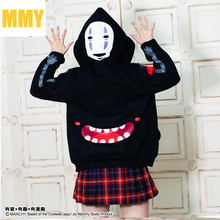 Spirited Away Mask Men cosplay anime hooded Japanese cartoon women Autumn and winter thick warm hoodie sweater coat lovely