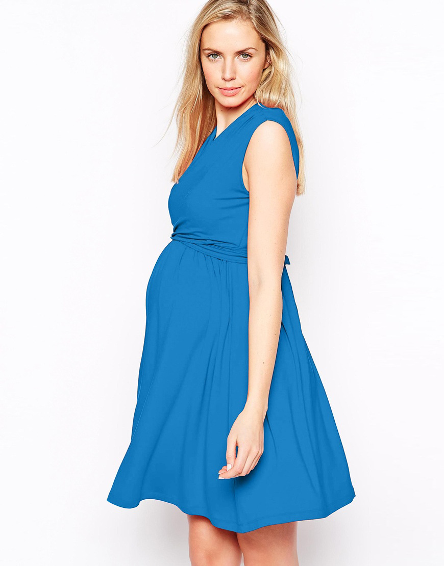 612394 spring and summer new European and American high-end fashion V-neck sexy pregnant women vest dress summer maternity dress