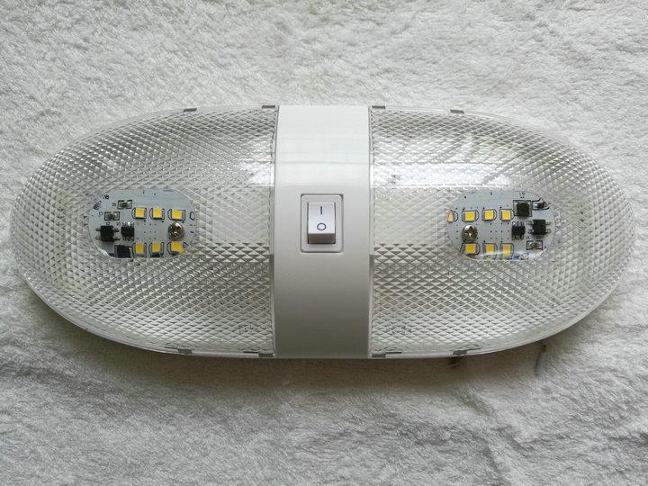 Plafoniera Camper 12v : 5x rv led 12 v leuchte decke wohnmobil anhänger marine doppel