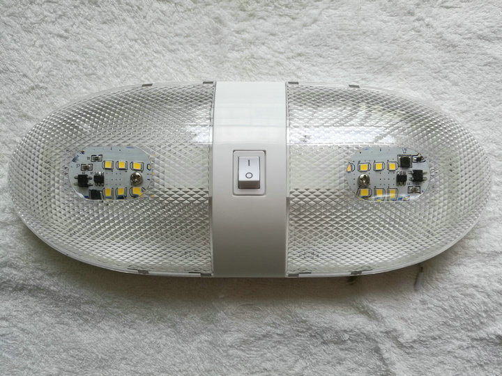 Plafoniera Led 12v Per Camper : Rv led v fixture ceiling camper trailer marine double dome