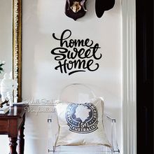 Home Sweet Quote Wall Sticker Quotes Decal Removable DIY Easy Art Cut Vinyl Q201