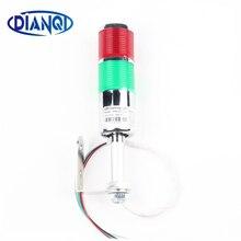 2 цвета LTA вертикальный промышленный многослойный светильник со стеком сигнальный сигнал башня сигнальный светильник вспышка промышленный башня светодиодный серебристый