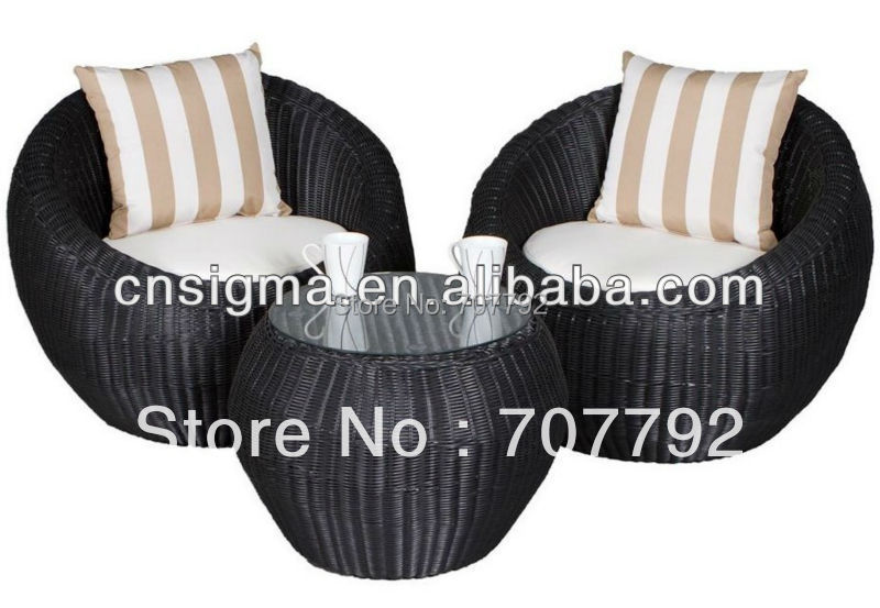 Outdoor Rattan Round Setting Set