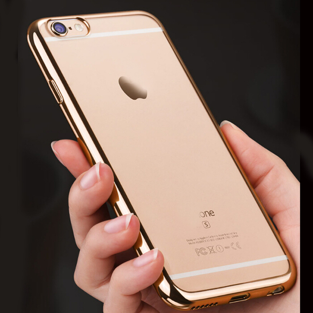 sports shoes f5f10 cf8c7 US $1.99 |For iPhone 5s Clear Case Glossy Transparent Chrome Electroplating  Soft Silicone Cover Shell for iPhone SE for iPhone 5 4.0 inch-in Fitted ...