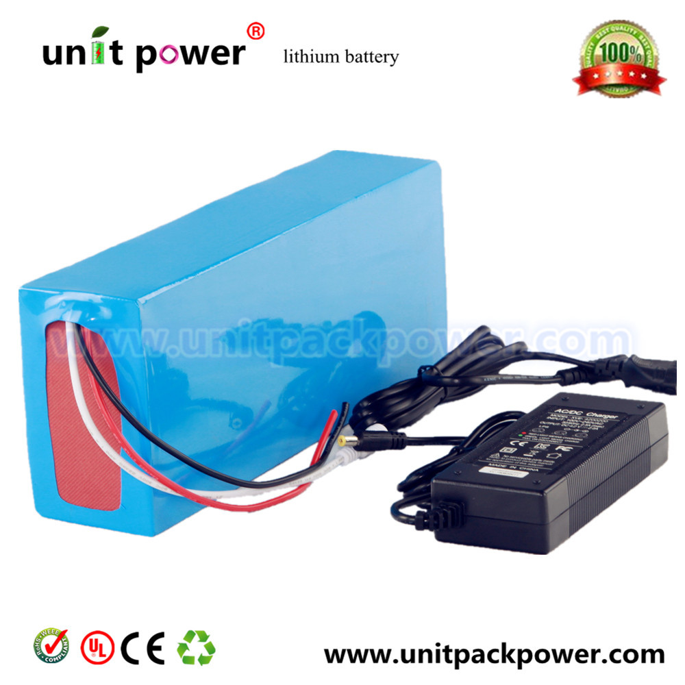 Free customs duty Best quality DIY 48 volt lithium battery pack with charger and BMS for 48v 10ah li-ion battery pack free shipping 50a discharge rate lithium battery 48v 50ah 18650 rechargeable li ion battery pack with 2000w bms and charger
