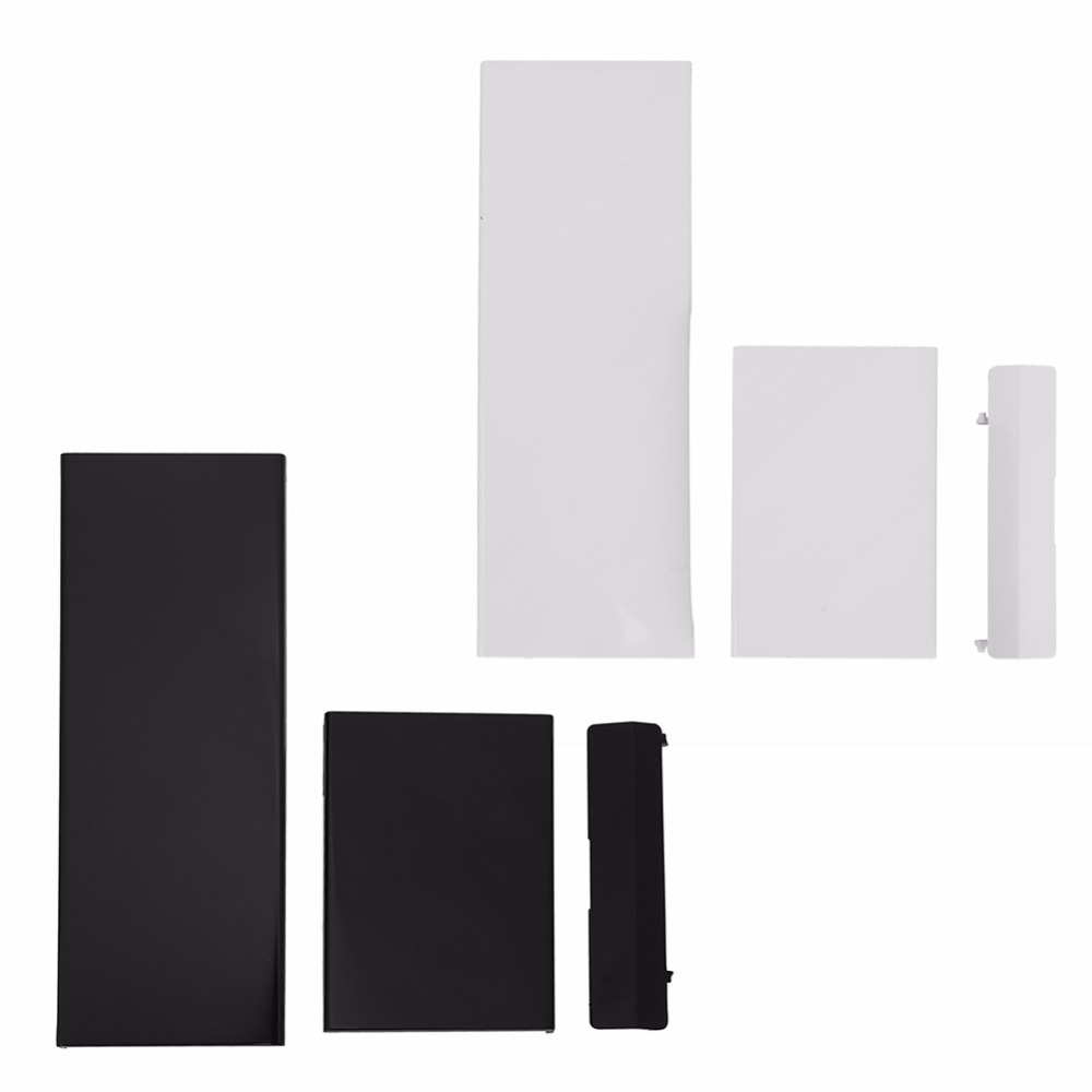 New Replacement White Black Memeory Card Door Slot Cover Lid 3 Parts Door Covers For Nintendo Nintend Wii Console