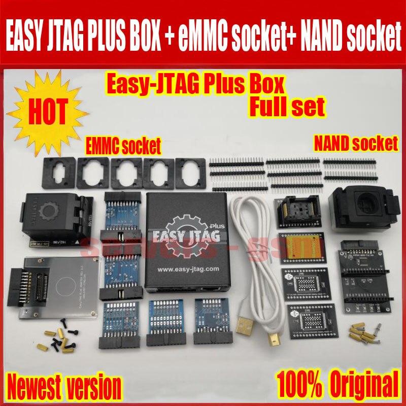2019 Nova versão Original conjunto Completo caixa de caixa Fácil-Jtag Jtag Fácil plus plus + tomada + NAND EMMC tomada