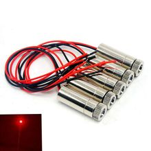 цена на 5pcs 50mW 650nm Red Laser Diode Module w Focus Dot Collimator Lens DIY Head