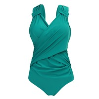 YOUDIAN 2017 New Arrival Large Cup Swimwear Women Plus Size Swimsuit One Piece Solid Bathing Suit