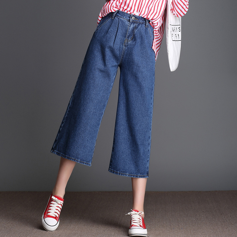 Online Get Cheap Plus Size Wide Leg Jean Capris -Aliexpress.com ...