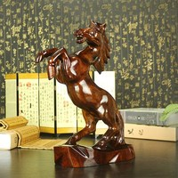 High quality hand carved wooden horse lucky horse to successful home decoration office ornament gift