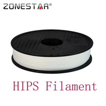 High Quality 1.75mm White HIPS 3D Printer Filament D Printing plastic Rubber Consumables Material 1KG /Roll