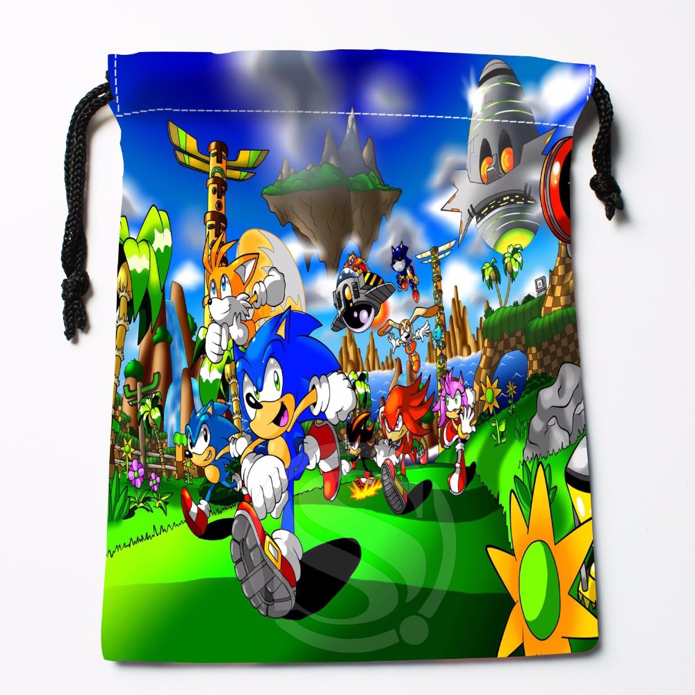 TF&24 New Sonic The Hedgehog #9 Custom Printed Receive Bag Bag Compression Type Drawstring Bags Size 18X22cm &81#24