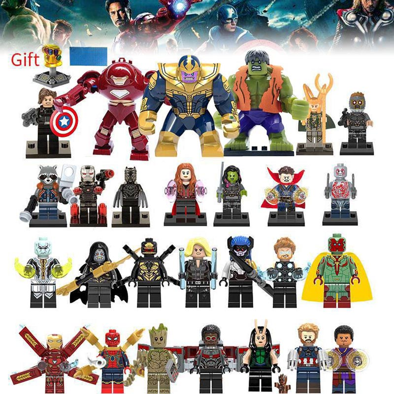 Building Blocks Super Heroes lEGOED Marvel Avengers Infinity War Thanos Hulk Iron Man Spiderman kids toys for children