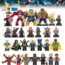 Building Blocks Super Heroes lEGOED Marvel Avengers Infinity War Thanos Hulk Iron Man Spiderman kids toys for children(China)