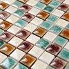Green White Kiln Polished Porcelain Ceramic Tiles Mosaic HMCM1046 Kitchen Backsplashl Tile Bathroom Floor Ceramic Wall