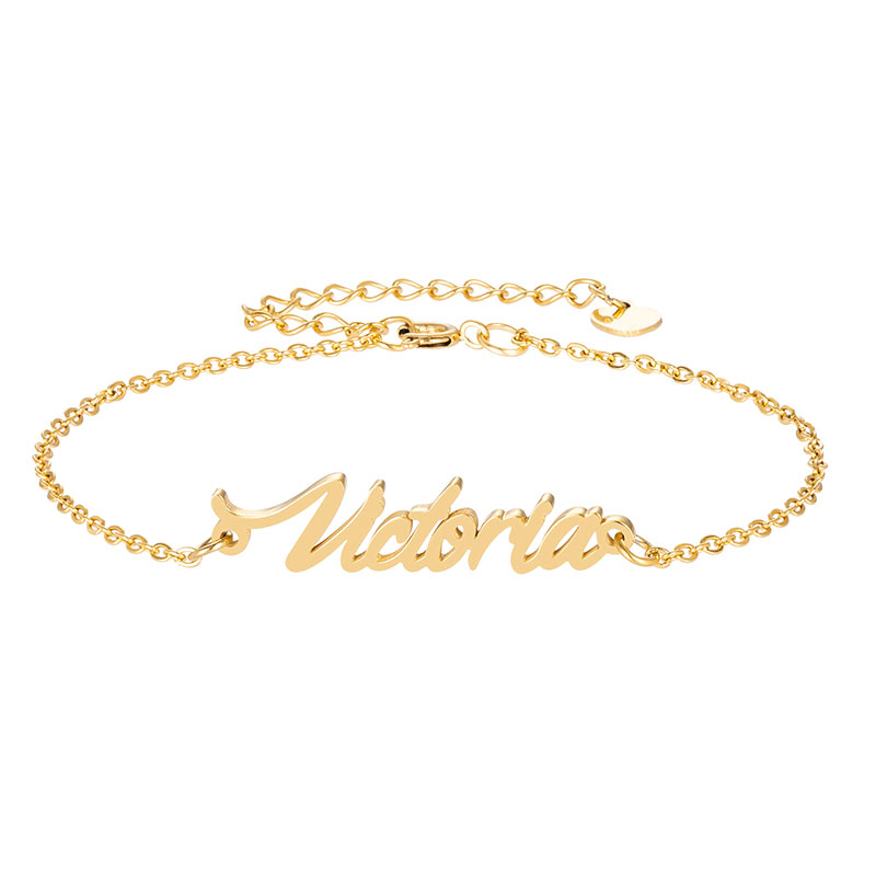 Us 5 94 30 Off Gold Bracelet With Name