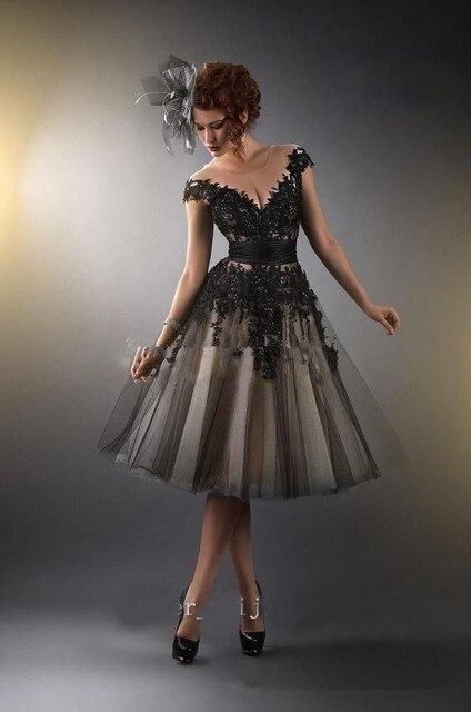2015 Strapless sexy V-neck Black Lace Cocktail Dresses 2015