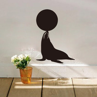 Dolphin Play Ball Eco Friendly Removable Decals Bedroom Nursery Kids Wall Stickers Transfer Film Bathroom Door
